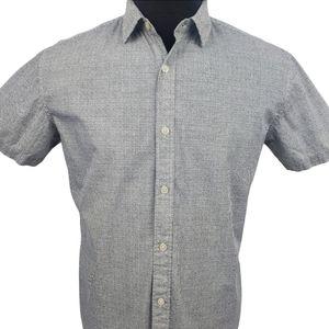 Frank & Oak Casual Short Sleeve Button Shirt Sz M
